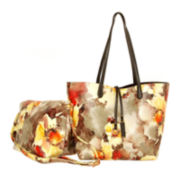 Imoshion Large Watercolor Floral Reversible Tote