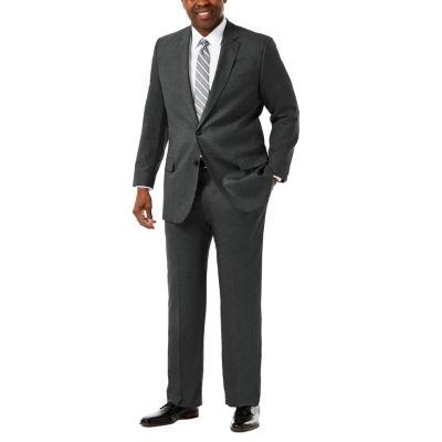 6a1f9942cc3 JM Haggar Premium Stretch Sharkskin Classic Fit Suit Jacket - Big   Tall