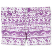 Arizona Denim Print Shorts - Girls newborn-24m