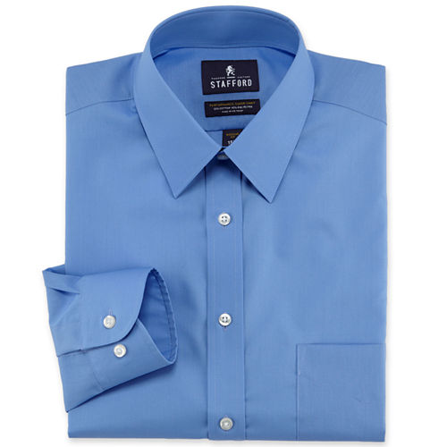 Stafford Travel Broadcloth Dress Shirt