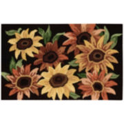 Nourison® Sunflower Utility Rectangular Rug