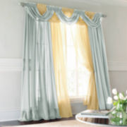 jcp home™ Lisette Rod-Pocket 60x54 Sheer Panel