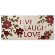 "JCPenney Home™ Quotations ""Live Laugh Love"" Utility Rug"
