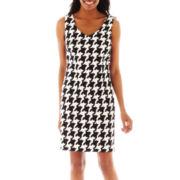 Alyx® Sleeveless Houndstooth Sheath Dress