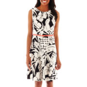 Alyx® Floral Belted Fit-and-Flare Dress