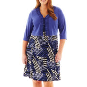 Danny & Nicole® Print Dress with Jacket - Plus
