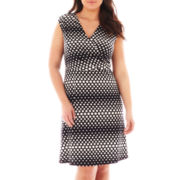 Alyx® Cap-Sleeve Polka Dot Dress - Plus