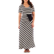 Trulli Short-Sleeve Striped Maxi Dress - Plus