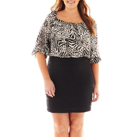Danny & Nicole Animal Print Blouson Dress - Plus
