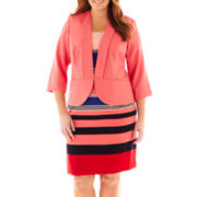 Danny & Nicole® Striped Dress with Jacket - Plus