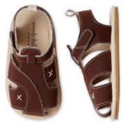 Wendy Bellissimo™ Toddler Boys Reid Nubuck T-Strap Sandals