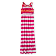 Arizona Striped, Sleeveless Maxi Dress - Girls Plus