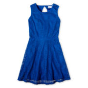 Sally M Sally Miller Lace Sleeveless Skater Dress - Girls 6-16