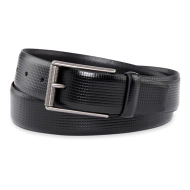 jcpenney.com | Van Heusen® Black Textured-Top Belt