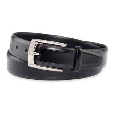 jcpenney.com | Van Heusen® Black Feather-Edge Stitch Belt