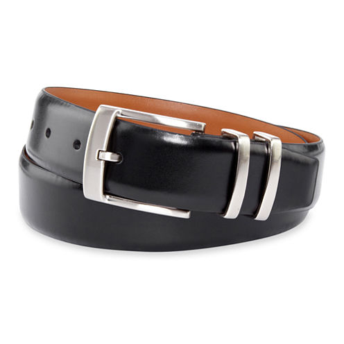 Van Heusen® Black Leather Belt–Big & Tall