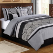 Grayson 6-pc. Jacquard Comforter Set