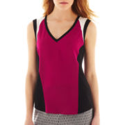 nicole by Nicole Miller® Colorblock V-Neck Tank Top