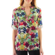 nicole by Nicole Miller® Floral Tunic Top