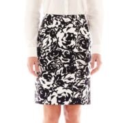 Liz Claiborne Double Cotton Floral Pencil Skirt