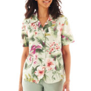 Alfred Dunner® Amalfi Coast Floral Print Blouse