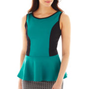 Bisou Bisou® Colorblock Peplum Tank Top