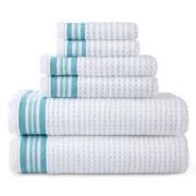 JCPenney Home™ Quick-Dri™ 6-pc. Striped Towel Set