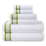 JCPenney Home™ Quick-Dri™ 6-pc. Striped Towel Set