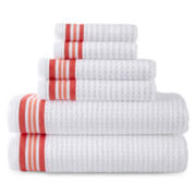 JCPenney Home™ Quick-Dri™ 6-pc. Striped Bath Towel Set
