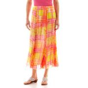 Lark Lane® Garden Party Long Plaid Broomstick Skirt