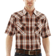 Ely Cattleman® Short-Sleeve Plaid Snap Shirt