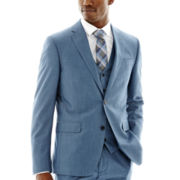 JF J. Ferrar® Medium Blue End-on-End Suit Jacket–Classic Fit