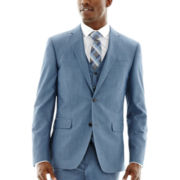 JF J. Ferrar® Medium Blue End-on-End Suit Jacket–Slim Fit