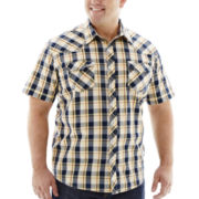The Foundry Supply Co.™  Vintage Western Plaid Shirt–Big & Tall