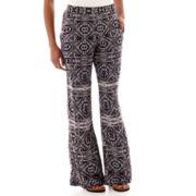 by&by Print Challis Wide-Leg Pants