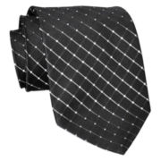 Stafford® Grid Silk Tie – Extra Long