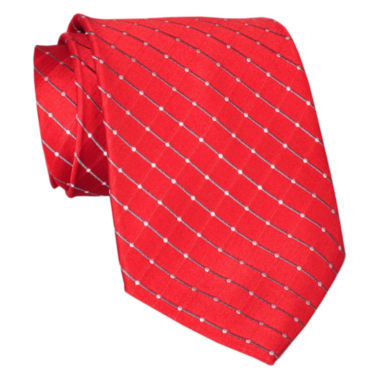 jcpenney.com | Stafford® Grid Silk Tie – Extra Long