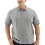 Van Heusen® Short-Sleeve Windowpane Polo–Big & Tall