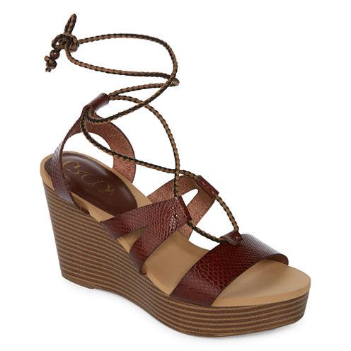 Groove Lyn Womens Wedge Sandals