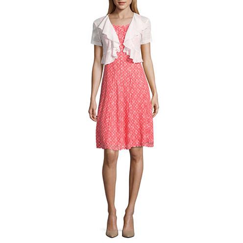 Perceptions Short Sleeve Jacket Dress