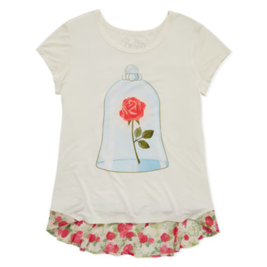 jcpenney.com | Disney Beauty and the Beast Graphic T-Shirt-Big Kid Girls