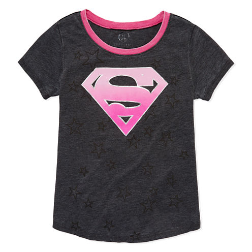 Short Sleeve DC Comics T-Shirt-Big Kid Girls