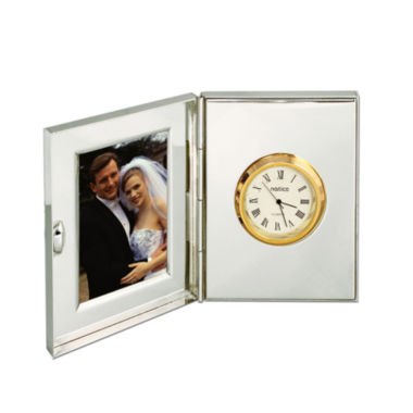 jcpenney.com | Natico Pearl Silver Suitcase Desk Clock and Frame