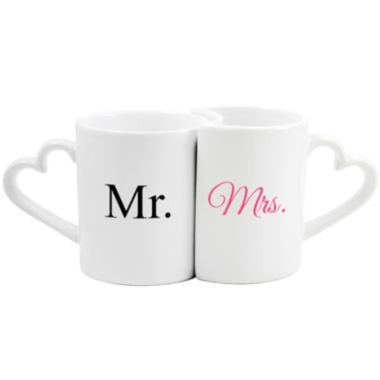 jcpenney.com | Cathy's Concepts Mr. & Mrs. Set of 2 Coffee Mugs