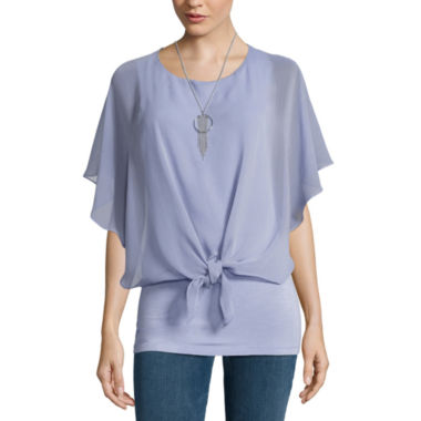 jcpenney.com | Alyx Tie Front Popover Top