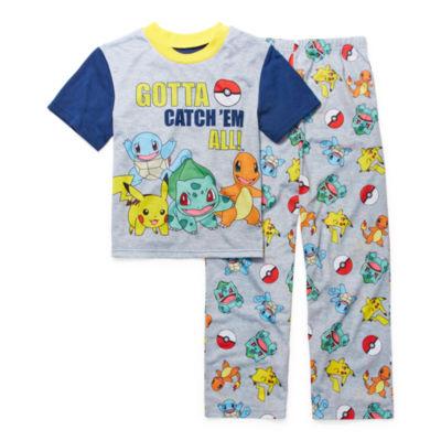 Pokemon Boys 2pc Pajama Pant Set Size 4 6 8 10 $38