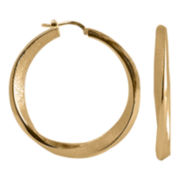 Charles Garnier 18K Gold-Plated Twisted Hoop Earrings