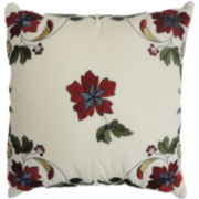 Waverly® Felicite Ivory Embroidered Decorative Pillow