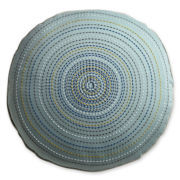 Design by Conran Embroidered Round Decorative Pillow
