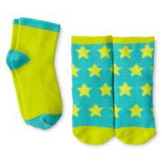 Okie Dokie 2-pk. Star Socks - Girls